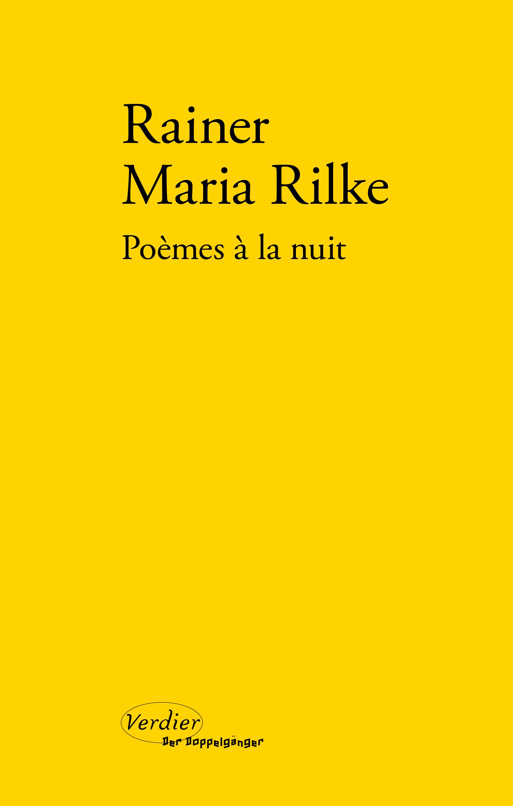 Poèmes à La Nuit Editions Verdier