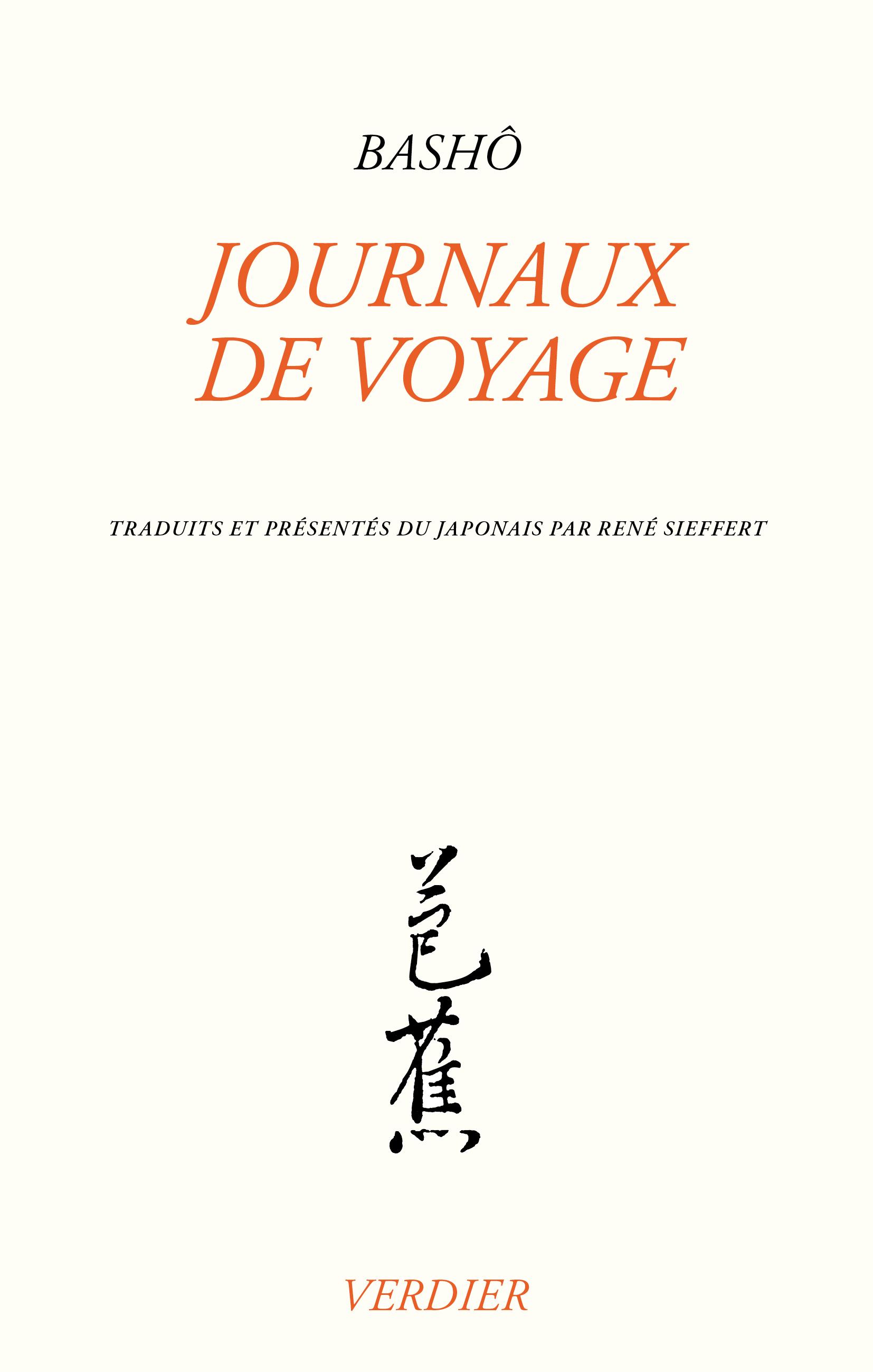 Journaux de voyage - Editions Verdier